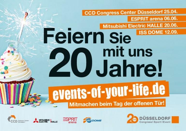 Tag der offenen tür plakat design  Happy Birthday! Düsseldorf Congress Sport & Event wird 20! Tage ...