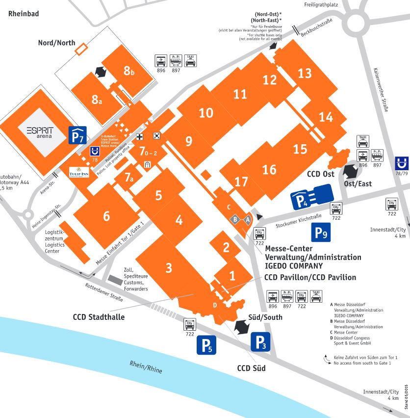 Geländeplan Messe Düsseldorf