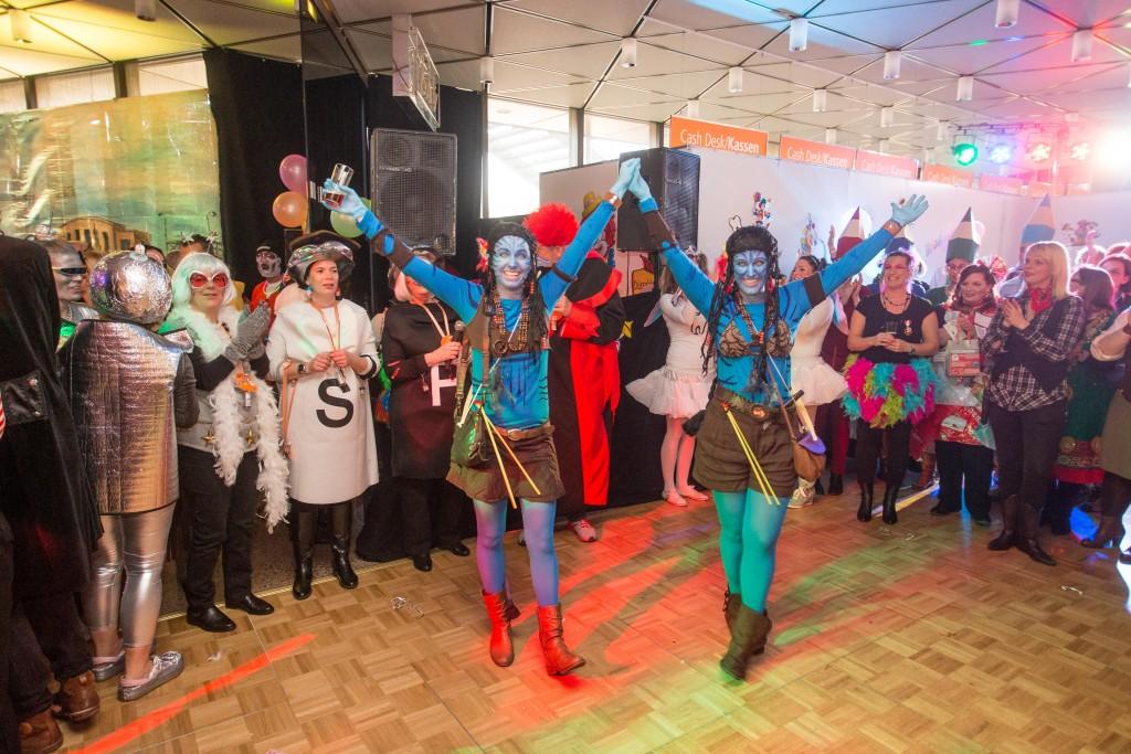 12.02.2015 DŸsseldorf Karneval Altweiber Mitarbeiterparty Foto : Messe DŸsseldorf / Protokoll