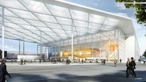 Neubau Eingang Süd © sop architekten, Visualisierung: CADMAN
