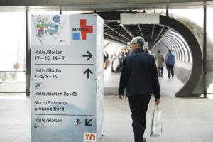 Wegeführung zur MEDICA 2019 im Eingang Nord