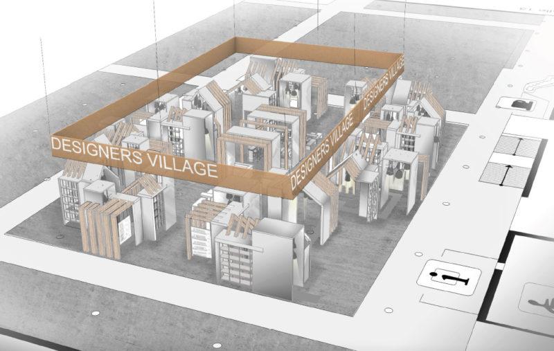 Der Entwurf für das Designers Village