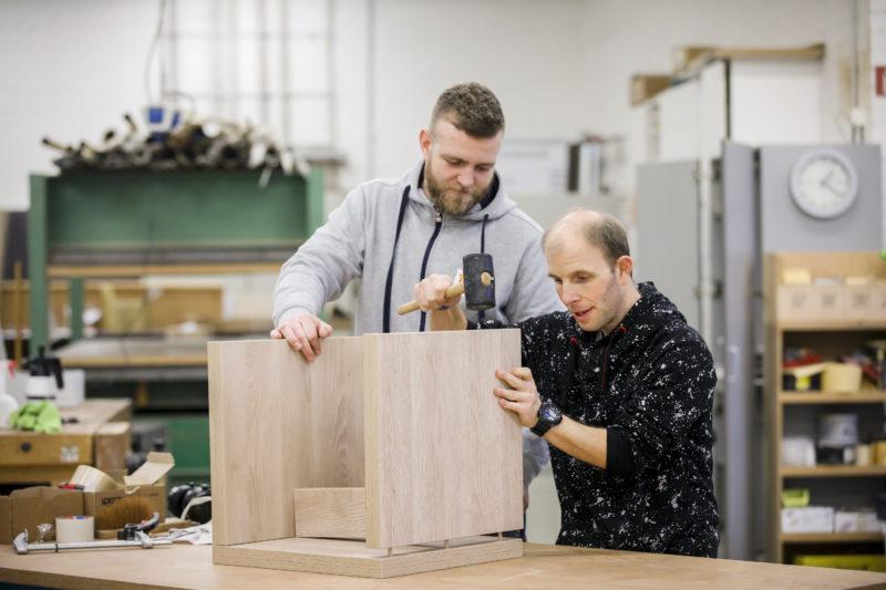 Moritz Maier und Michael Bersuch am Rückwechseltermin