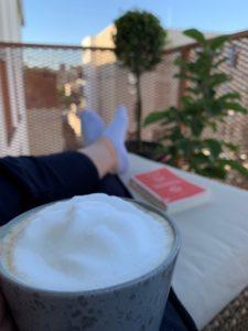 Bild Kaffee Balkon