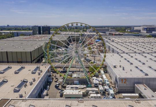 Der Pop-up-Freizeitpark Düsselland auf dem Messegelände