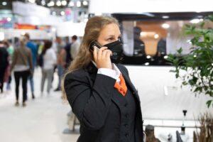 Telefonische Absprachen auf dem CARAVAN SALON