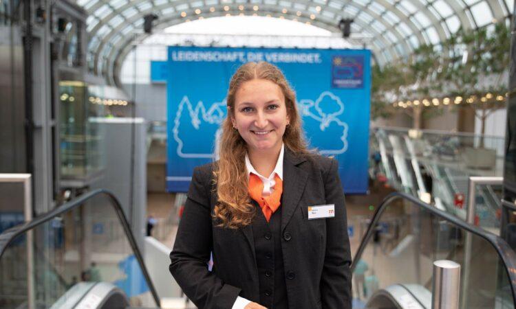 Hallenläuferin Johanna Marx