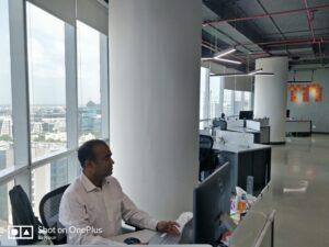 Anand Nair ist begeistert von der Aussicht des neuen Standorts
