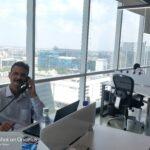 Senior Project Manager Avnish Seth an seinem neuen Arbeitsplatz