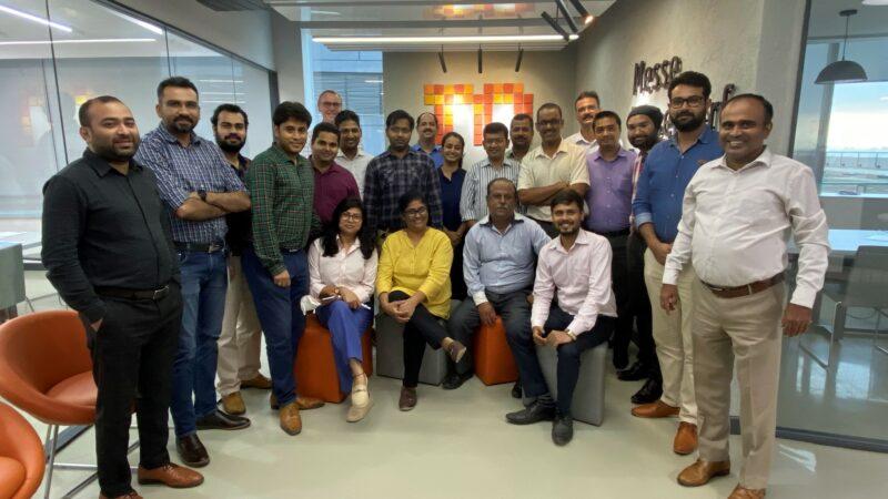 Das Team der Messe Düsseldorf India fühlt sich im neuen Office sichtlich wohl