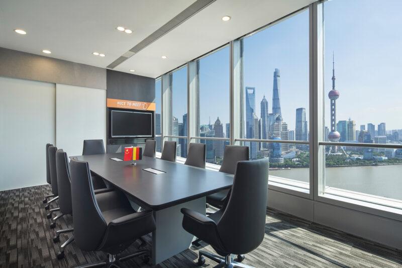 Einer der neuen Meetingräume des Teams aus Shanghai